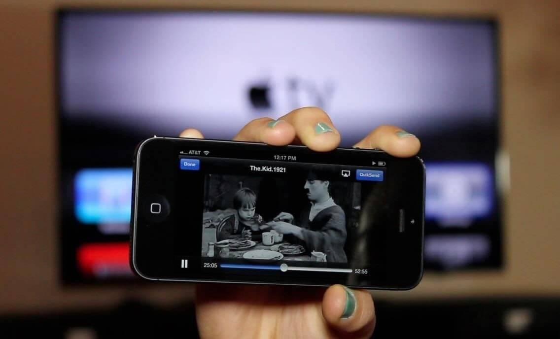 iphone conectat la televizor