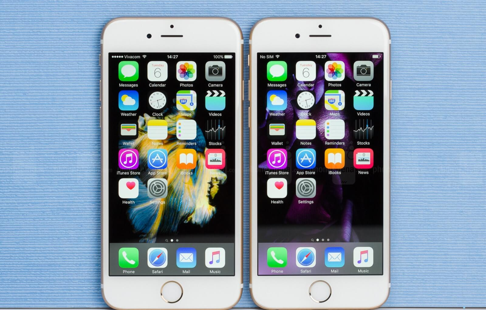 diferenta dintre iphone 6 si 6s